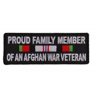 Proud Family Afghan War Vet Patch | US Afghan War Military Veteran Patches