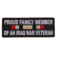 Proud Family Iraq War Vet Patch | US Iraq War Military Veteran Patches