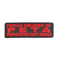 Proud Member Of Peta Patch | Embroidered Patches