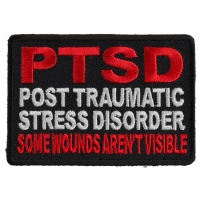 PTSD Patch For Vets - Some Wounds Are Not Visible | US Military Veteran Patches