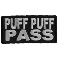 Puff Puff Pass Patch | Embroidered Pot Patches