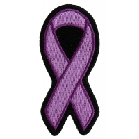 Purple Ribbon Patch For Breast Cancer Survivors | Embroidered Patches