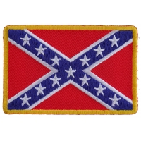 Rebel Confederate Southern Flag Patch Small | Embroidered Patches
