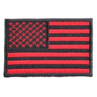 Red Black American Flag Patch | Embroidered Patches