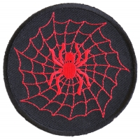 Red Spider And Web Patch | Embroidered Patches