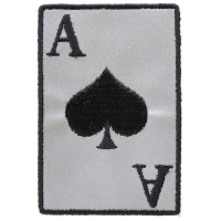 Reflective Ace Of Spades Patch | US Military Veteran Patches