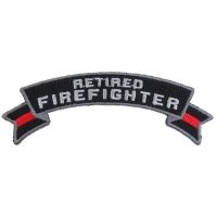 Retired Firefighter Rocker Patch