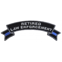 Retired Law Enforcement Rocker Patch
