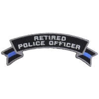 Retired Police Officer Rocker Patch