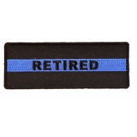 RETIRED Subtle Police Officer Patch | Embroidered Patches