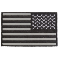 Reversed American Flag Black And Reflective 4 Inch Patch | Embroidered Patches