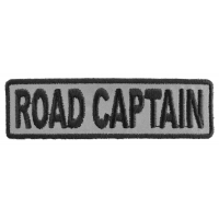 Road Captain Patch 3.5 Inch Reflective | Embroidered Patches