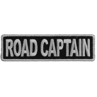 Road Captain Patch 3.5 Inch White | Embroidered Patches