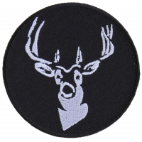 Round Deer Patch | Embroidered Patches