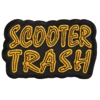 Scooter Trash Patch | Embroidered Biker Patches