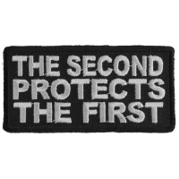 The Second Protects The First Right To Bear Arms Patch | Embroidered Patches