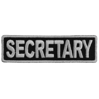 Secretary Patch 3.5 Inch White
