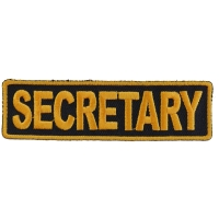 Secretary Patch 3.5 Inch Yellow