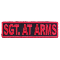 Sgt At Arms Patch Red