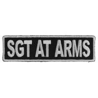 Sgt At Arms Patch 3.5 Inch White