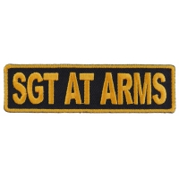 Sgt At Arms Patch 3.5 Inch Yellow