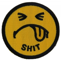 Shit Smiley Face Patch | Embroidered Patches