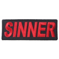 Sinner Patch | Embroidered Patches