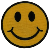 Smiley Face Patch | Embroidered Patches