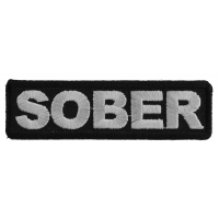 Sober Patch | Embroidered Patches