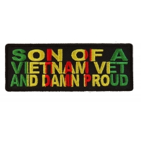 Son Of A Vietnam Vet And Damn Proud Patch | US Military Vietnam Veteran Patches