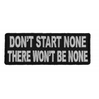 Start None There Won't Be None Patch