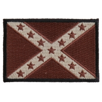Subdued Brown Confederate Flag Patch