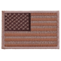 Subdued Brown US Flag Patch | Embroidered Patches