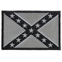 Subdued Gray Confederate Flag Patch