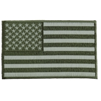 Subdued Green American Flag Patch