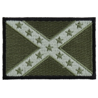 Subdued Green Confederate Flag Patch