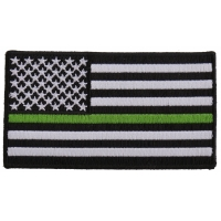 Subdued Green Stripe American Flag Patch | US Army Military Veteran Patches
