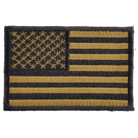Subdued Green US Flag Patch | Embroidered Patches
