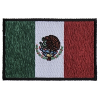Subdued Mexico Flag Patch