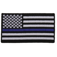 Subdued US Flag With Blue Stripe Patch | Embroidered Patches