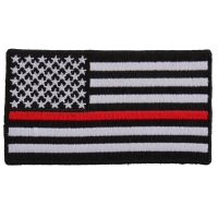 Subdued US Flag With Red Stripe Patch | Embroidered Patches