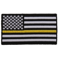 Subdued Yellow Stripe American Flag Patch | US Military Veteran Patches