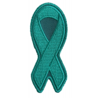 Teal PTSD Awareness Ribbon Patch