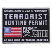 Terrorist Hunting Permit Patch