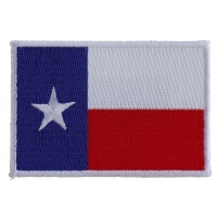 Texas Flag White Border Patch | Embroidered Patches