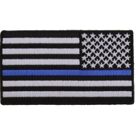 Thin Blue Line American Flag Reversed Patch | Embroidered Patches