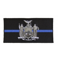 Thin Blue Line New York State Flag Patch For Law Enforcement | Embroidered Patches