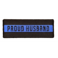 Thin Blue Line Proud Husband Patch