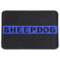 Thin Blue Line Sheepdog Patch For Law Enforcement | Embroidered Patches