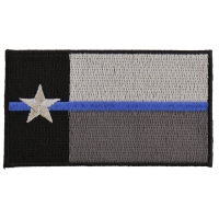 Thin Blue Line Texas State Flag Patch For Law Enforcement | Embroidered Patches
